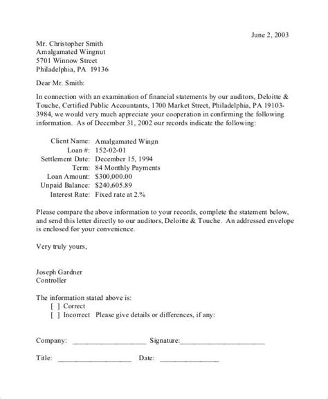 Confirmation Letter By Email Letter Format 187 Confirmation Of Balance Letter Format Free Resume Cover And Resume Letter Sles
