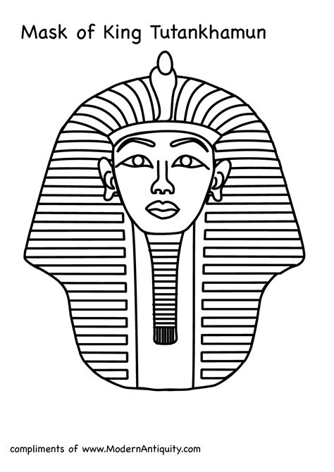 King Tut Mask Template tutankhanun mask clipart clipground