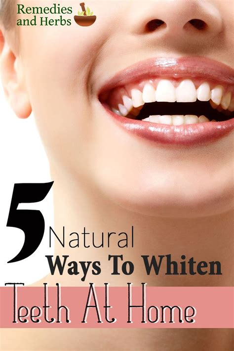 5 ways to whiten teeth at home diy home remedies