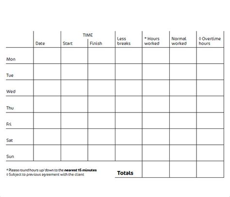 blank time card template 10 blank timesheet templates free sle exle