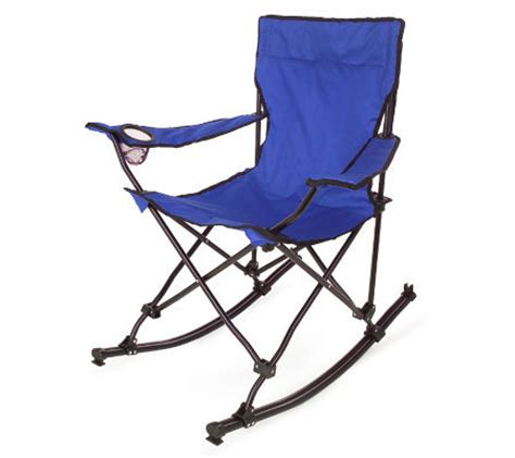Rocking Chair In A Bag by Portable Folding Rocking Chair W Carrying Bag Qvc