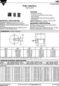 filter inductor datasheet ihb 3 datasheet filter inductor high current