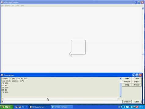 logo turtle commands how to draw in microsoft windows logo