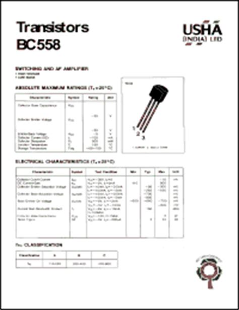 bc5508 transistor bc558 datasheet transistor switching and af lifier high voltage low noise vcbo 30v