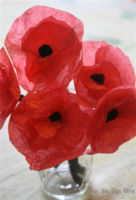 Make Paper Poppies - how the sun poppies