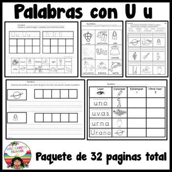 imagenes y palabras con la letra u letra u y las vocales los vocales con letra y preescolar