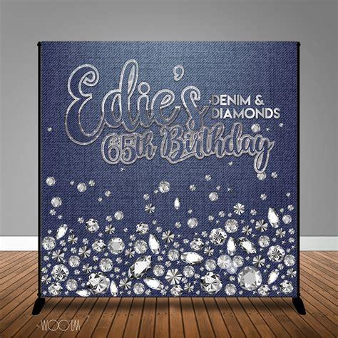 backdrop design for 50th birthday denim and diamonds birthday 8x8 backdrop step repeat