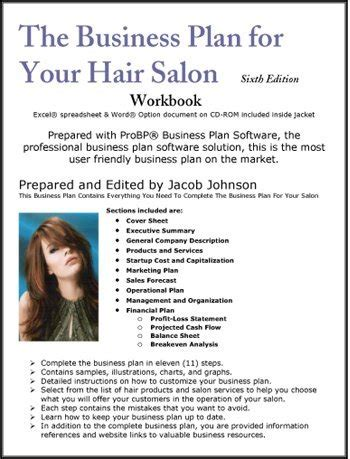 The Business Plan For Your Hair Salon Salon Business Plan Template Free