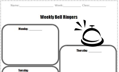 bellwork template bell work freebies 2 peas and a