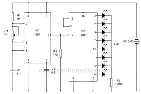 led light chaser circuit diagram led chaser circuit circuit diagram