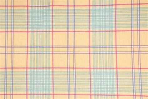 plaid drapery fabric bloomcraft woods plaid printed cotton drapery fabric in aqua