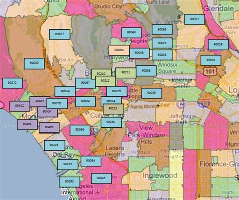 zip code for city la los angeles county zip code map holidaymapq