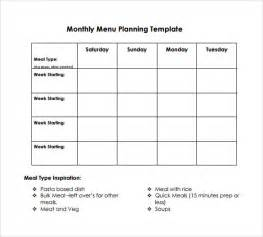 template for menu planning sle menu planning template 9 free documents in pdf word