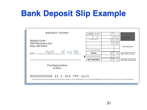 bank deposit chapter 05 financial services savings plans and payment
