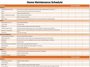 home maintenance list template microsoft office templates