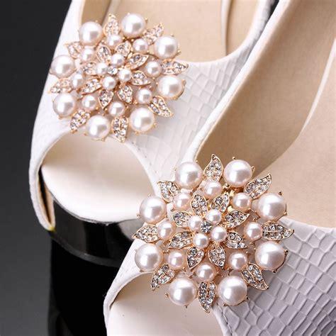 online get cheap rhinestone shoe clips aliexpress com
