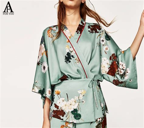kimono jackets as a summer fashion trend for women over 60 2017 women floral print casual kimono japanese style coat