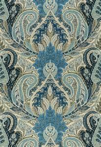 Black Damask Upholstery Fabric Cambay Paisley Print Azure 22 Bond St Daily Blog