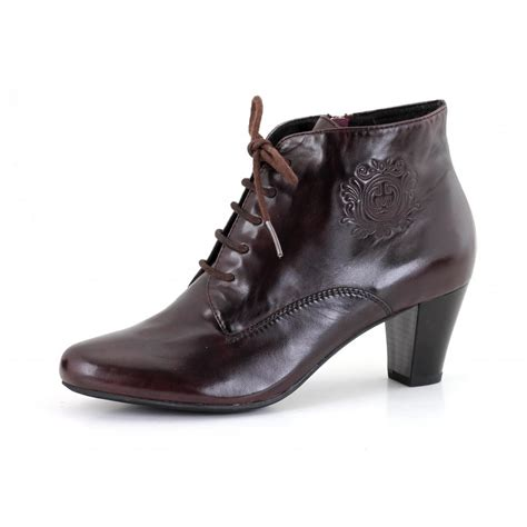 kate 12 wine leather ankle boot