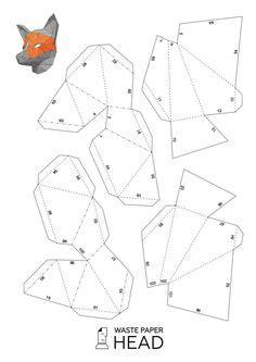 printable geometric mask template wintercroft masks plantillas gratis buscar con google
