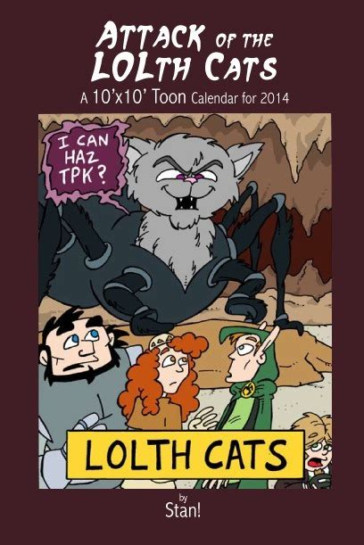 attack of the cats books paizo attack of the lolth cats 2014 calendar