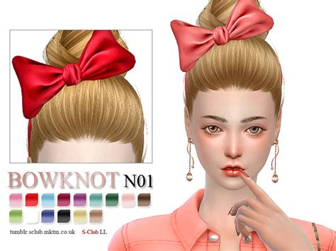sims 3 custom content females hair bow s club ll ts4 bowknot 01