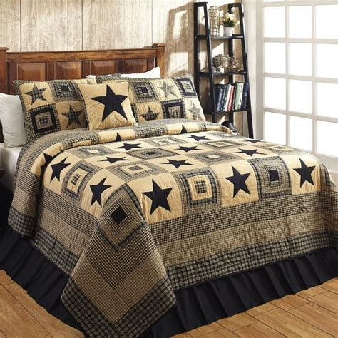 black and tan bedding colonial star black tan quilted bedding set 3 pc