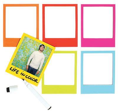 set of 6 magnetic gold frames picture frames by cb2 color polaframe photo frame magnetic set of 6