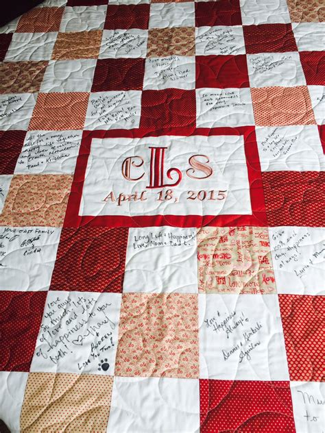custom made wedding guest book quilt for your guests to sign