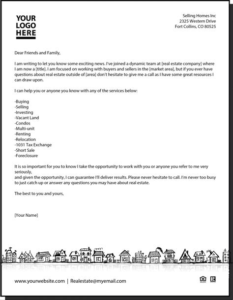 New Agent Letter Real Estate Pinterest Real Estate Estate Agents And Business Real Estate Introduction Letter To Friends Template