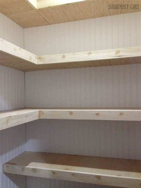 how to make wooden shelves for a garage