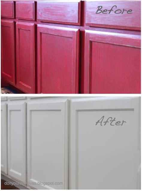 painting kitchen cabinets red do it yourself divas diy how to paint over red painted
