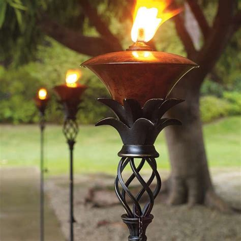 pineapple torches for the home pinterest