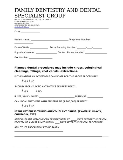 14 Dental Medical Clearance Forms Free Word Pdf Format Download Clearance For Dental Treatment Template