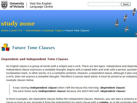 Future Time Clauses Before After When English Guide Org