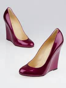 cranberry colored shoes christian louboutin cranberry metallic patent leather