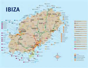 Ibiza Spain Map by Ibiza Tourist Map