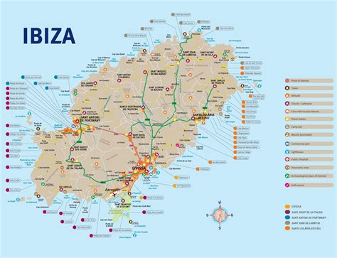 0004488962 carte touristique ibiza and maps update 16001134 spain map tourist maps of spain