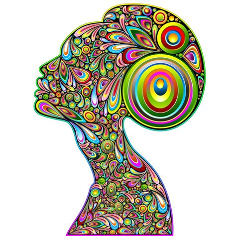 trippy wall murals wall mural psychedelic portrait design donna ritratto psichedelico pixersize