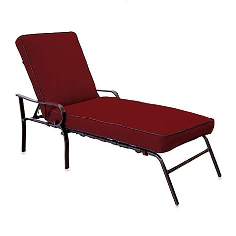 Hawthorne Padded Chaise Lounge In Red Bed Bath Beyond Outdoor Furniture Hawthorn