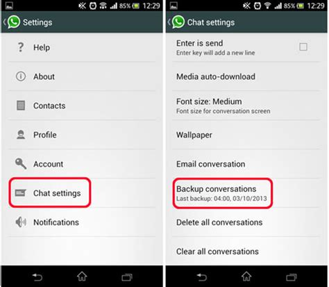 three ways to transfer whatsapp messages from android to