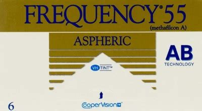 frequency 55 aspheric   discount contact lens