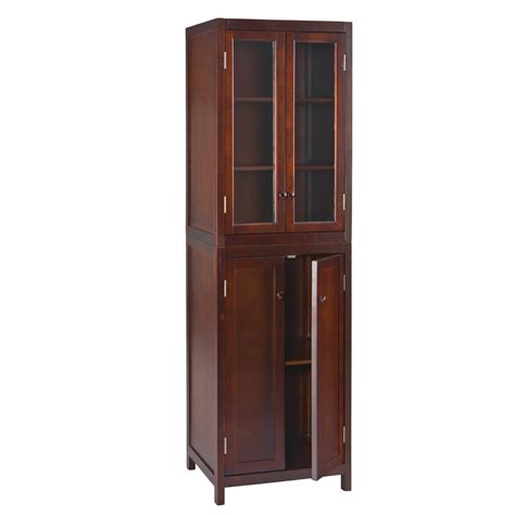 espresso 60 quot bathroom storage tower cabinet sei