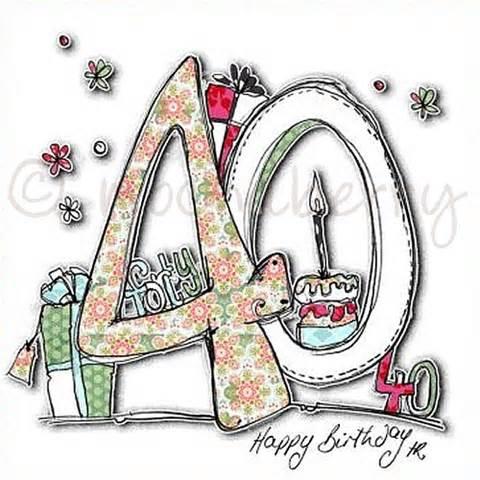 40th birthday cards 40th birthday cards fortieth