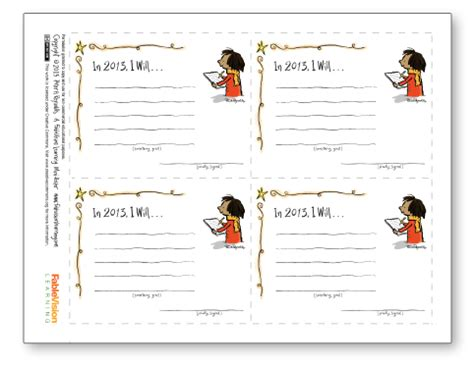 free student goal card template from h inspire students to commit to