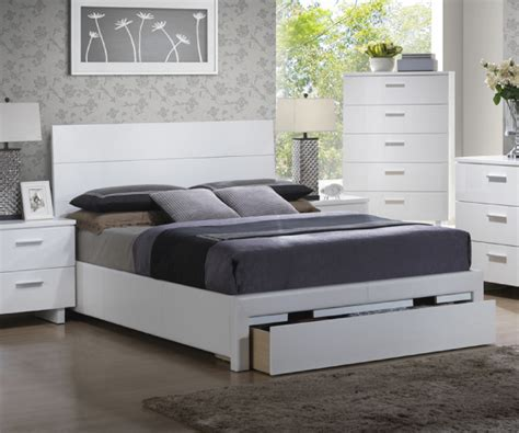 White Bed With Drawers by White Bed With Large Drawers