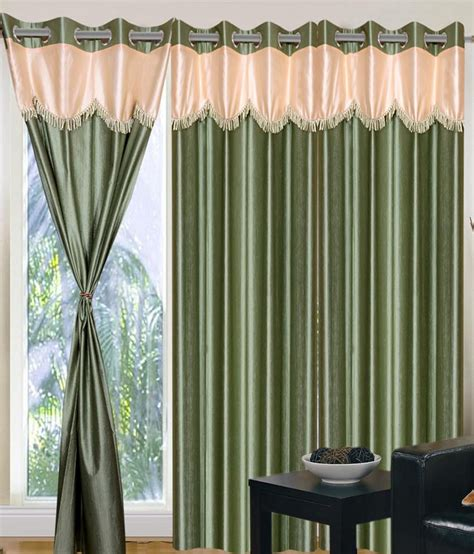 Fancy Curtain Valances Home Sazz Green Valance Set Of 2 Fancy Window Curtains 5