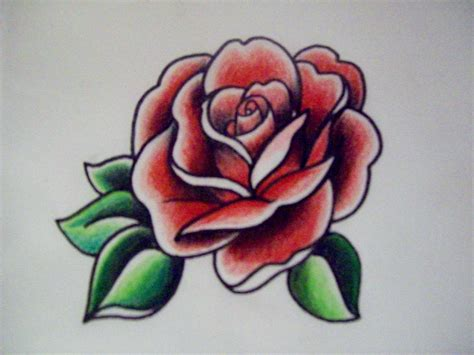 how to draw a traditional rose tattoo best 25 american traditional ideas on