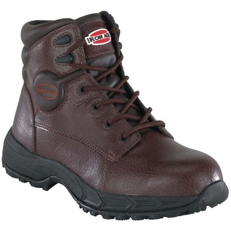 sport steel toe shoes s iron age 174 6 quot steel toe sport boots brown 231793