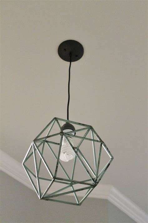 Diy Geometric Light Fixture Home Decor Pinterest Diy Geometric Light Fixtures